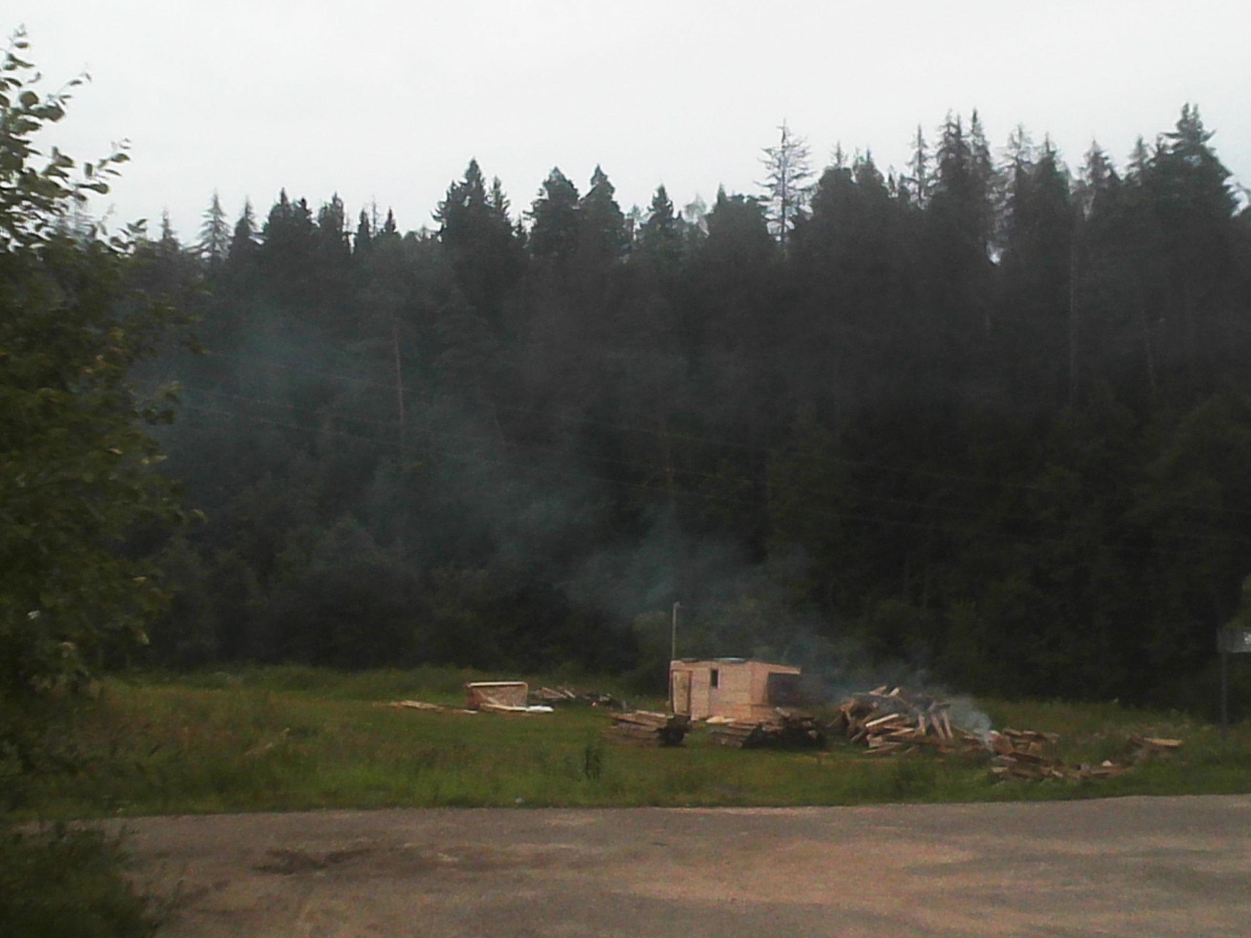 стройка в заповеднике в звенигороде, дютьково